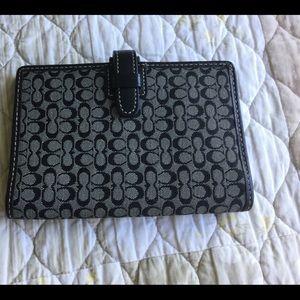 COACH wallet black/gray Signature CC bi-fold